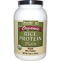 NutriBiotic, Сырой натуральный простой рисовый белок, 3 фунта (1.36 кг)