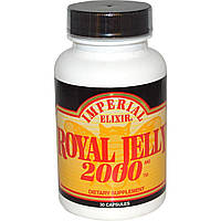 Imperial Elixir, Маточное молочко, 2000 мг, 30 капсул