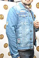 Мужская куртка индиго с нашивками Republic 5083