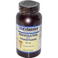 Life Extension, Ресвератрол с птеростильбеном, 100 мг, 60 капсул на растительной основе