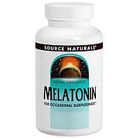 Source Naturals, Мелатонин, Сублингвальный препарат с апельсиновым вкусом, 1 мг, 300 таблеток