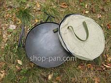 Сковорода из диска бороны для пикника с крышкой и чехлом 40 см, фото 3