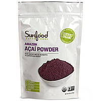 Sunfood, Порошок из амазонских ягод асаи, 8 унций (227 г)