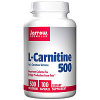 Jarrow Formulas, L-карнитин 500, 500 мг, 100 капсул