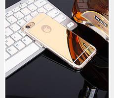 Чехол Apple Iphone 6 / 6S силикон TPU зеркальный золотой