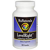 NuNaturals, Пищевая добавка «ПравильныйУровень», 90 капсул