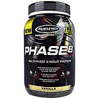 Muscletech, Провайдерская серия, Фаза-8, многофазный 8-часовой белок, ваниль, 907 г (2,0 фунта)