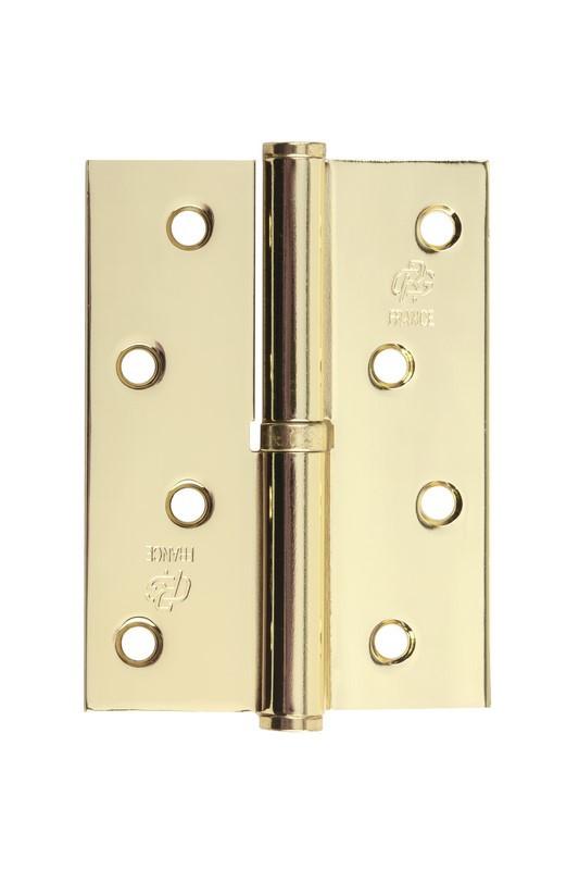 Петля стальная Gavroche gr 100*75*2.5мм B1 L g (золото)
