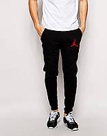 Трикотажные спортивные штаны Джордан Jordan черные