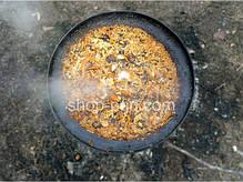 Сковорода из диска бороны для пикника с крышкой и чехлом 50 см, фото 2