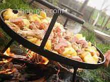 Сковорода из диска бороны для пикника с крышкой и чехлом 50 см, фото 3