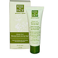 Kiss My Face, Break Out, растительный гель против угревой сыпи, 1 жидкая унция (29 мл)