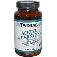 Twinlab, Ацетил L-карнитин, 120 капсул