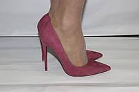 Женские классические туфли лодочки на шпильке пурпурного цвета