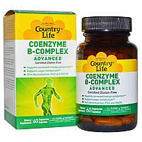 Country Life, Коферментный комплекс витаминов группы B, улучшенная формула, 60 растительных капсул