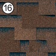 Битумная черепица Roofshield Premium Модерн 16 коричневая с оттенением