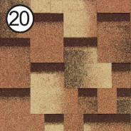 Битумная черепица Roofshield Premium Модерн 20 сандаловая