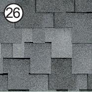 Битумная черепица Roofshield Premium Модерн 26 серая с оттенением