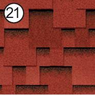 Битумная черепица Roofshield Premium Модерн 21 красная с оттенением