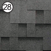 Битумная черепица Roofshield Premium Модерн 28 бархатно-черная