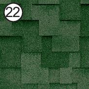 Битумная черепица Roofshield Premium Модерн 22 зелёная с оттенением