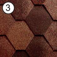 Битумная черепица Roofshield Classic Стандарт 3 коричневый антик