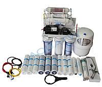 Фильтр для очистки воды - система обратного осмоса RO 7+ помпа + 11фильтров в подарок.
