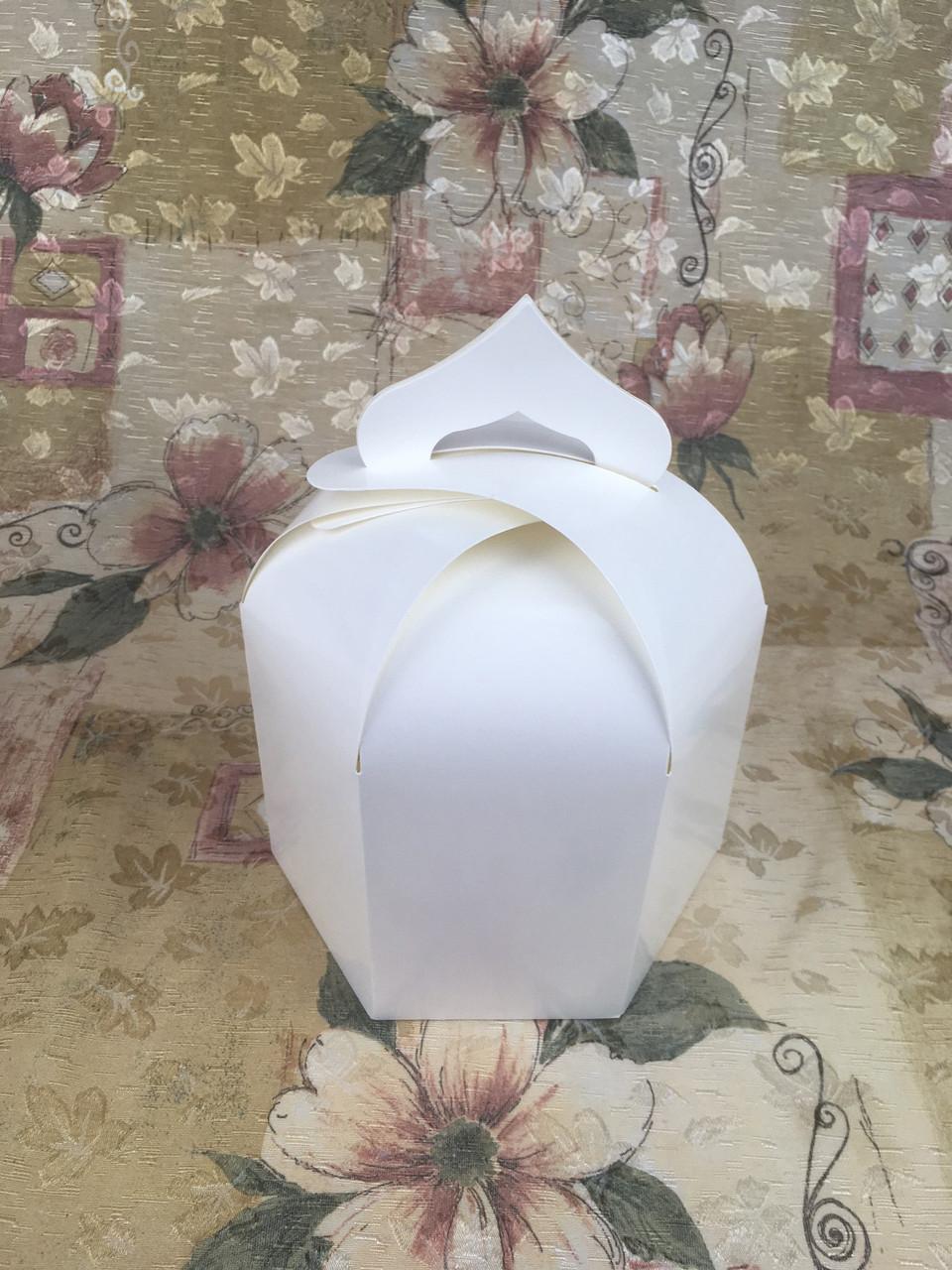 Упаковка для пасхи / 165х165х200 мм / Коробка для кулича / Больш / Молочн / Пасха
