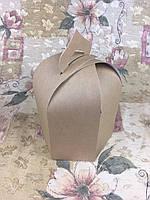 Упаковка для пасхи / 165х165х200 мм / Коробка для кулича / Больш / Крафт / Пасха, фото 1