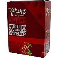 Pure Bar, Organic, фруктово-овощные батончики, с натуральным вкусом клубники и яблока, 24 батончика по 0,49 унции (14 г) каждый