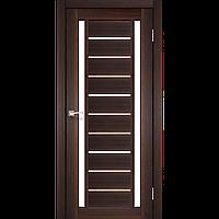 """Двери межкомнатные Корфад """"VL-03 ПО сатин"""" Орех, 900, ПВХ, массив сосновых пород, Распашная"""