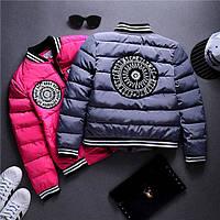 """Куртка """"Круги"""" с полосатыми манжетами в расцветках"""