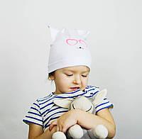 Детская шапочка-ушки с рисунком