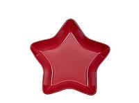 Салатник Звезда красный  34,5см в.7,5см  ASA