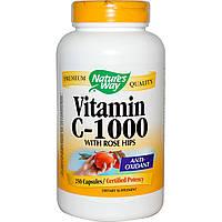 Nature's Way, Витамин C-1000, с шиповником, 250 капсул