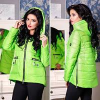 Куртка женская асимметричная по бокам молнии  (8 цветов)
