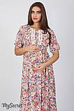 Платье для беременных и кормящих Tamana DR-27.112, мелкие цветы, фото 2