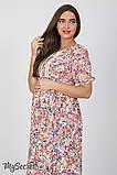 Платье для беременных и кормящих Tamana DR-27.112, мелкие цветы, фото 4