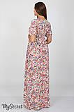 Платье для беременных и кормящих Tamana DR-27.112, мелкие цветы, фото 5