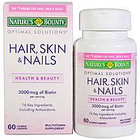 Nature's Bounty, Волосы, кожа и ногти, 60 капсул, покрытых оболочкой