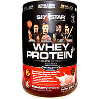 Six Star, Изолят сывороточного протеина Plus, серия Elite, клубничный смузи, 2,00 фунта (907 г)