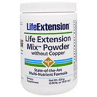 Life Extension, Mix Порошок без Меди, 14,81 унция (420 гр)