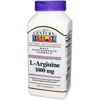 Купить аминокислоты 21st Century L-аргинин 1000 мг 100 tabs.