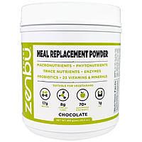 Madre Labs, Шейк Zenbu, порошок-заменитель пищи с пребиотиками, пробиотиками и растительного белка со вкусом шоколада, 16,4 унций (465 г)