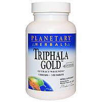 Planetary Herbals, Triphala Gold, здоровье желудочно-кишечного тракта, 1,000 мг, 120 таблеток