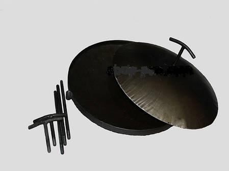 Сковорода из диска бороны для пикника с крышкой и чехлом 40 см, фото 2