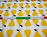 Отрез ткани с жёлтыми грушами (№ 693а) размер 72*160, фото 3