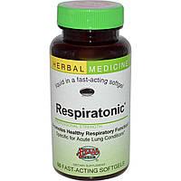 Herbs Etc., Тоник для дыхания, без спирта, 60 быстродействующих мягких капсул