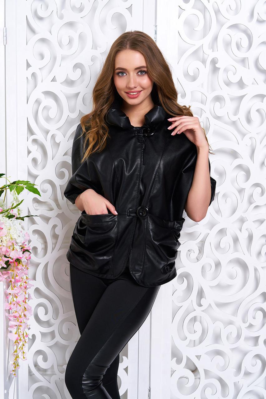 ccad35181cf Куртка из искусственной кожи с цельнокроеным рукавом и большими накладными  карманами - IBERIS в Харькове