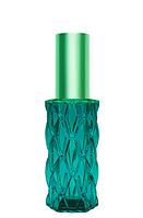 Цветной Флакон для парфюмерии Матильда 20 мл спрей салатовый